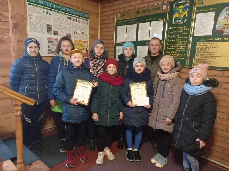 Городоцьких школярів привітали з Новорічними святами представники лісгоспу