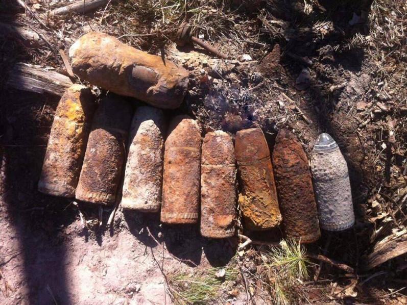 У Старому Чорторийську знайшли артилерійські снаряди часів Другої світової війни