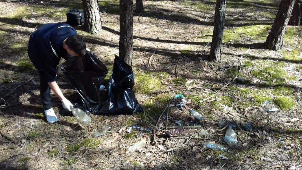 Маневичани організували акцію «Ліс –не смітник»