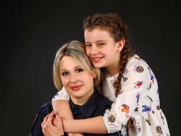 Наталя Гонтар зі своєю донечкою