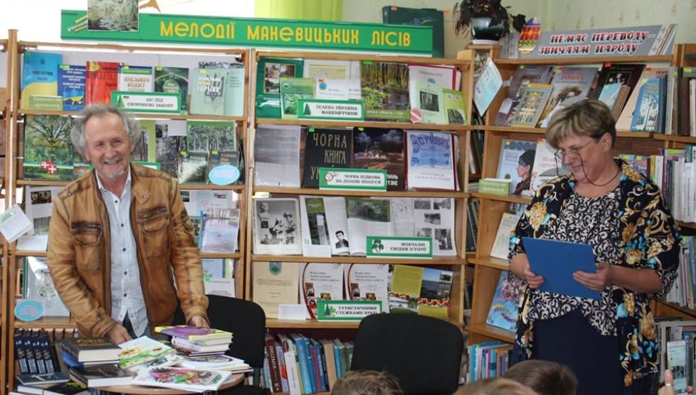 У Маневичах відбулась творча зустріч із першим президентом Міжнародної організації «Союз Чорнобиль»