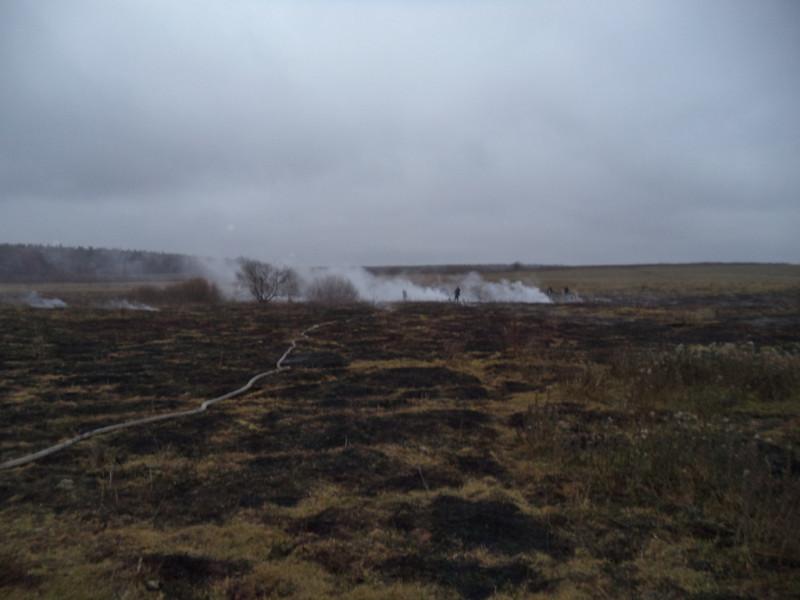 На Маневиччині рятувальники ліквідували загоряння торфу