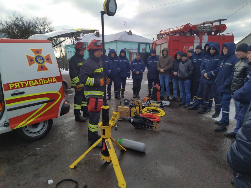 Маневицькі рятувальники вчилися працювати на новій спеціальній техніці