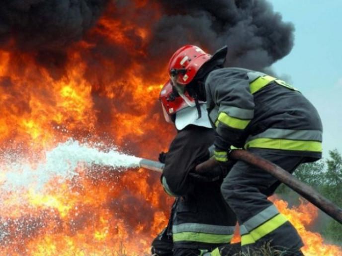У Маневицькому районі гасили пожежу на території в 5 гектарів