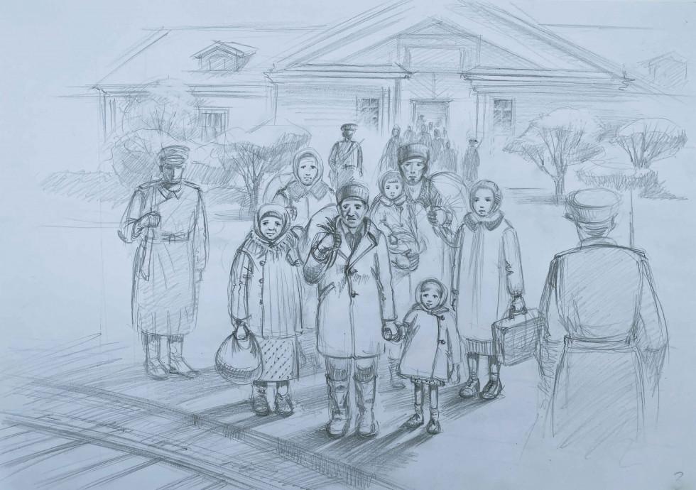 Прибуття до Сибіру. Зображення ілюстративне