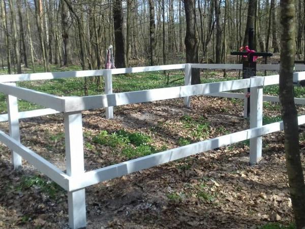 Колківські лісівники упорядкували польське поховання часів Другої світової війни
