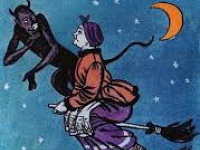 картинка из рассказа ночь перед рождеством как черт украл месяц левую руку