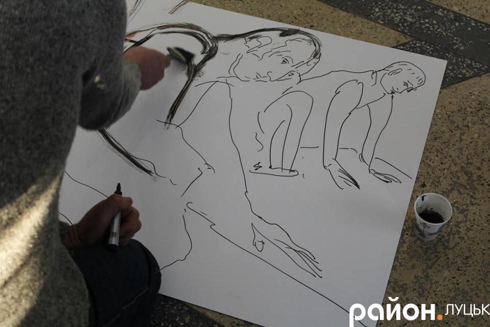 Картина, намальована під час виставки