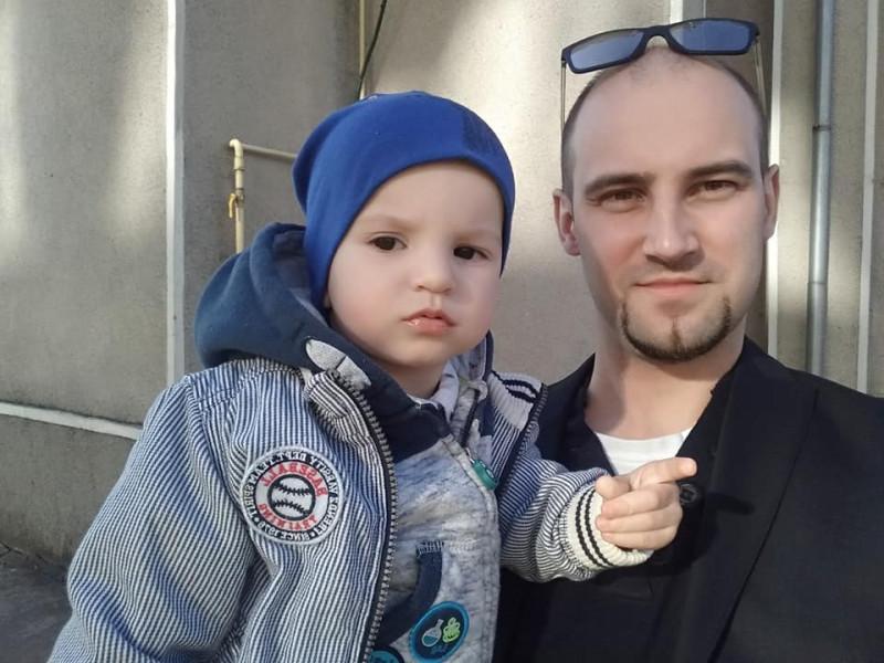 Сергій Міщук з сином