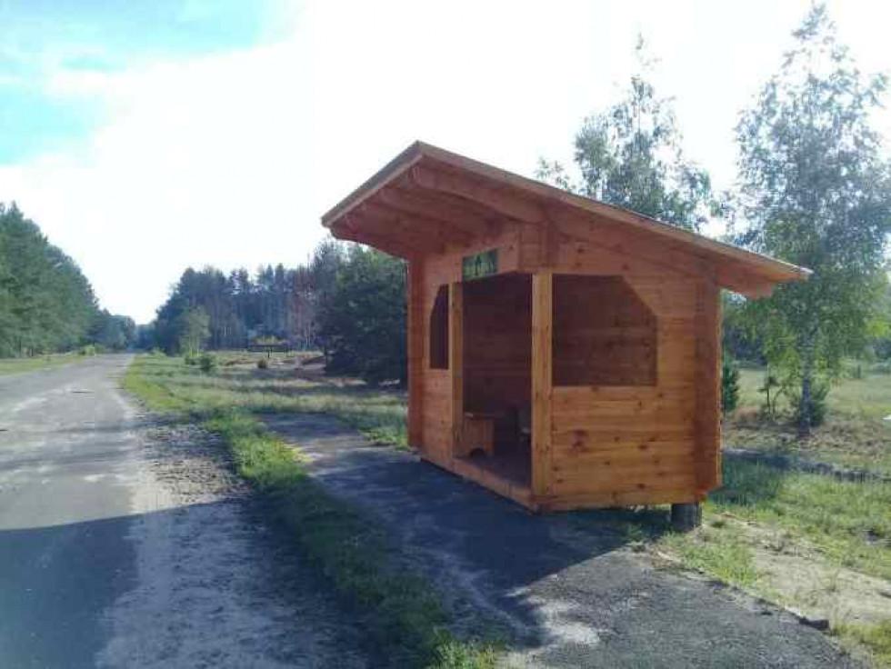 Тепер на ньому красується дерев'яна зупинка