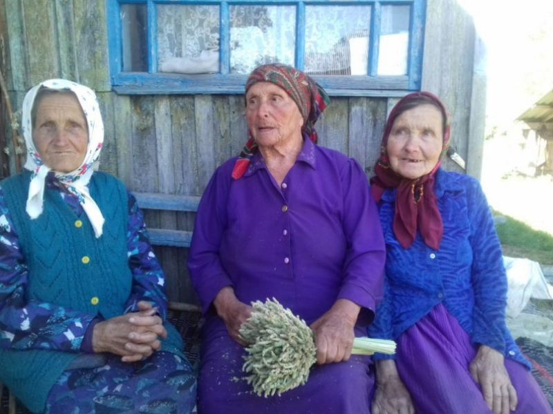 Февронія Горайчук із своїми сестрами, Христиною та Анастасією із села Градиськ