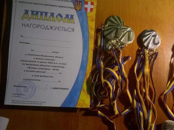 Маневичани взяли участь у чемпіонаті Волині з важкої атлетики
