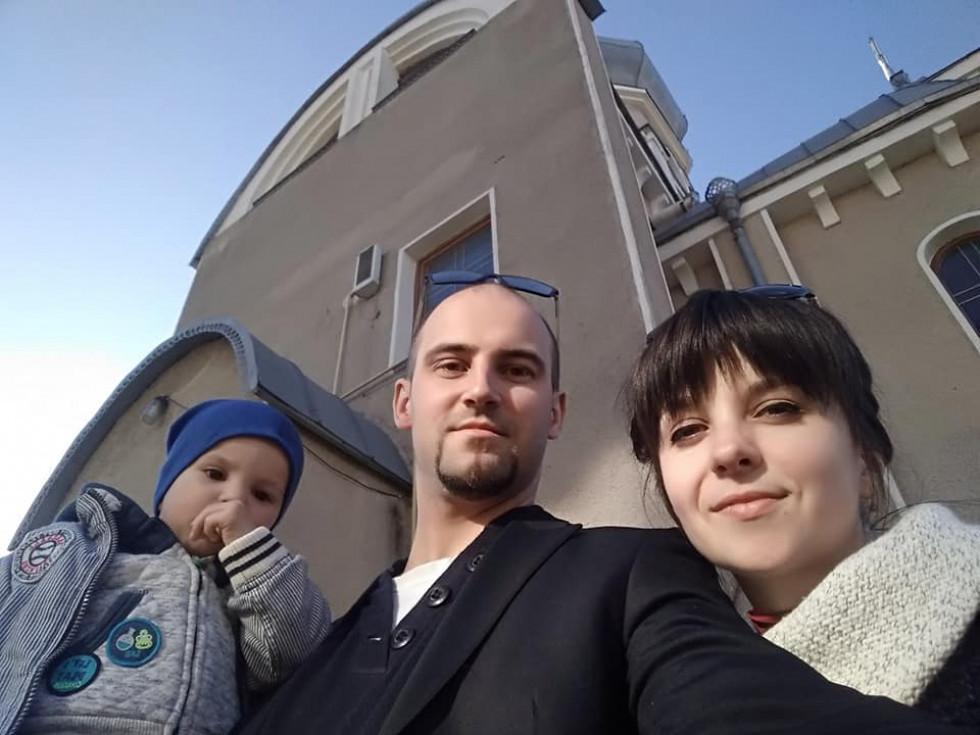 Сергій Міщук та його сім'я