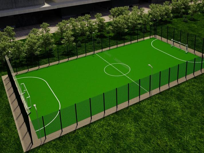 На Маневиччині побудують футбольне поле зі штучним покриттям