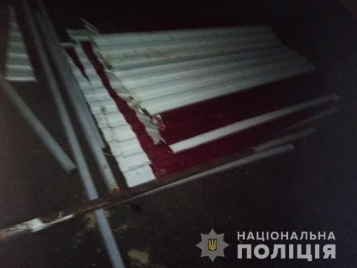 У Погулянці викрали металевий каркас із зупинки громадського транспорту