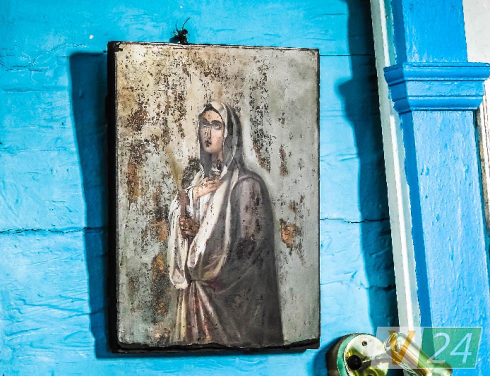 Образ святої Олександри, який з часом став набирати інших кольорів