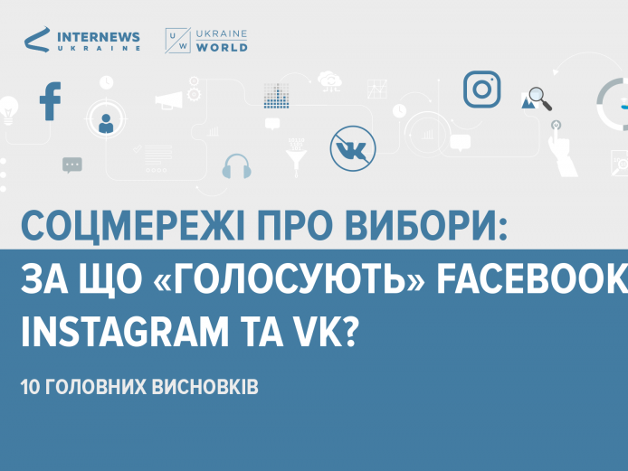Соцмережі про вибори: за що «голосують» facebook, instagram та VK?