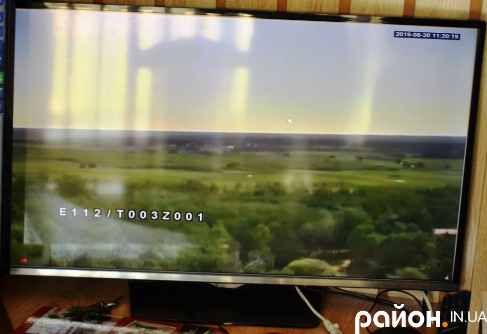 За допомогою відеокамер без виїзду в лісові масиви можна встановити координати навіть найменшого загоряння