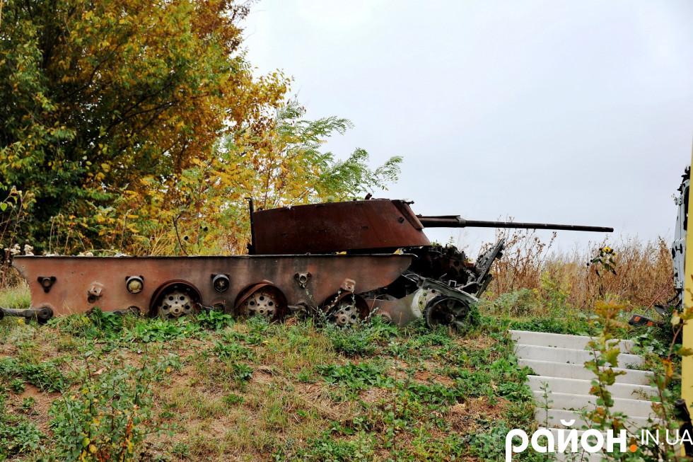 Згоріла «башта» танку